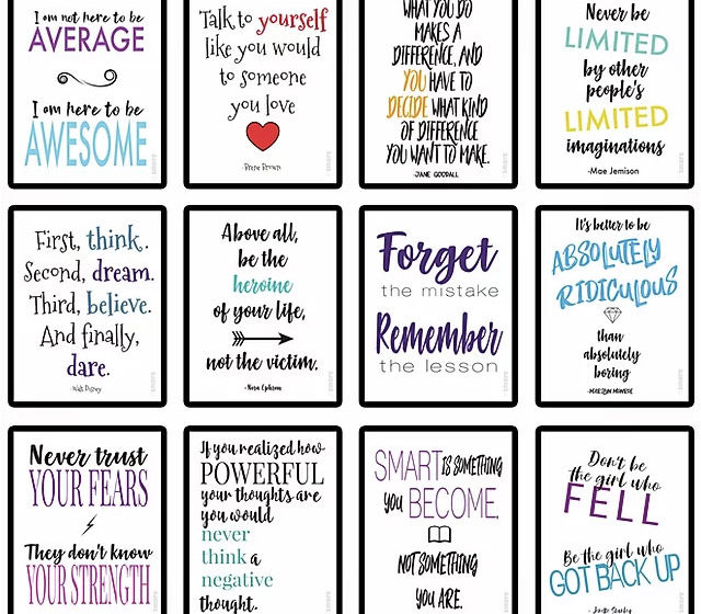 12 Empowering Printables Every Kid Needs On Their Wall! (FREE DOWNLOAD)